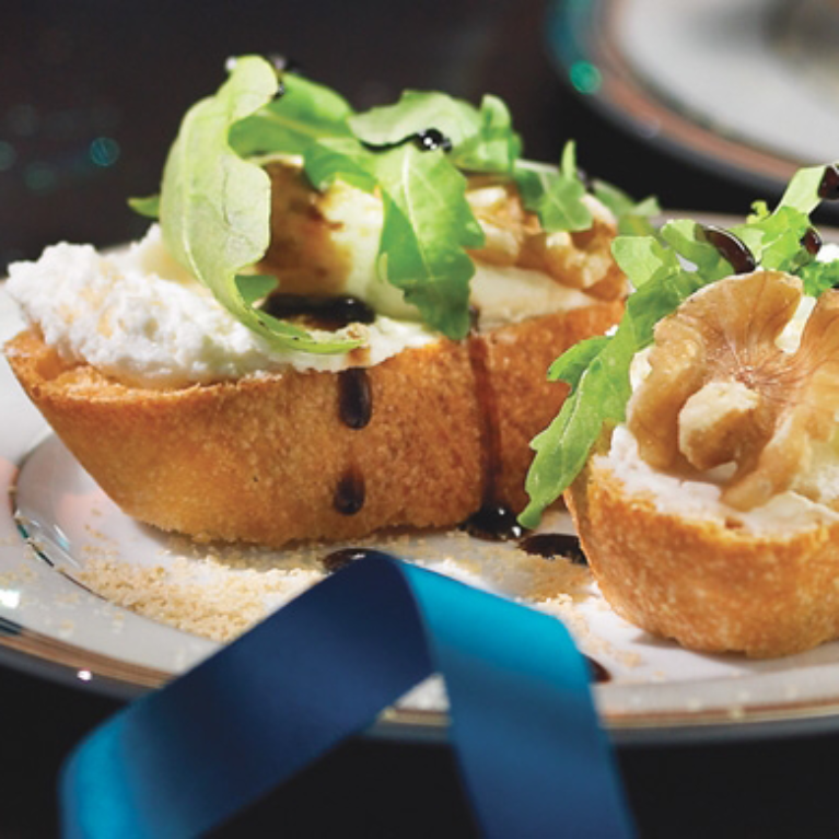 Maple-Goat Cheese Crostini