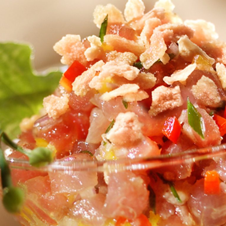 Maple Flakes Red Tuna Tartare