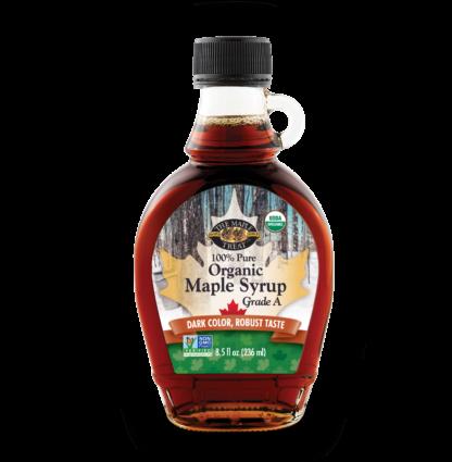 8 fl oz dark organic maple syrup