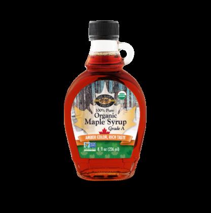 8 fl oz amber organic maple syrup